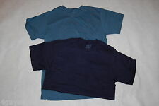 MENS Tee Shirt TWO LOT Slate Blue NAVY S 34-36 FRUIT OF THE LOOM Pocket S/S