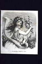 La primavera, disegno di G. Gonin Incisione del 1868