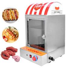 220V Würstchenwärmer Erhitzer 1500W Professional Hotdog Machine Hot Dog Steamer