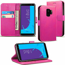 Leather Magnetic Credit Card Slot Wallet Flip Case Cover for Samsung A8 2018