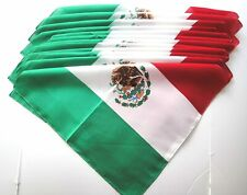 "100% Cotton Mexican BANDANA FLAG PRIDE HEAD SCARF DURAG STYLE FACE MASK  21""X21"""