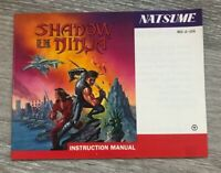 Shadow of the Ninja Nintendo Entertainment System NES Instruction Manual Only