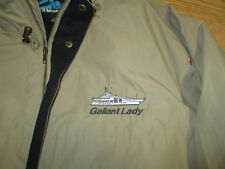 Gallant Lady Private Yacht  zippered jacket with hood Large Mens tan