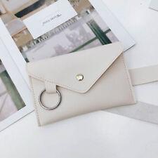 Women Waist Bag Fanny Pack Belt Bag Simple Envelope PU Leather Chest Bag Pocket