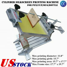 USA Manual Cylinder SilkScreen Printing Machine for Pen/Cup/Mug/Bottle