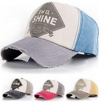 Men Women Ball Cap Denim Distressed Vintage Look Baseball Hat Trucker Adjustable