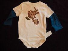 New Gymboree Daddy & Baby Playing Bodysuit Top 12-18m Boys NWT Silly Monkey