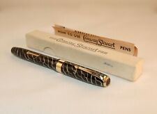VINTAGE CONWAY STEWART No.27 FOUNTAIN PEN - RARE CRACKED ICE - BOXED - C1951