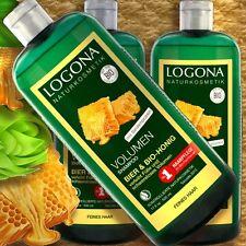 Logona Volumen-Shampoo Bier-Honig 500ml Naturkosmetik zertifiziert feines Haar
