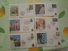 lot de 18 FDC voyage du pape jean paul II 1982 divers