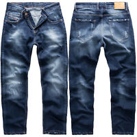 Rock Creek Herren Jeans Hose Regular Fit Dunkelblau Herrenjeans RC-3103 W29-W42