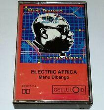 MANU DIBANGO CASSETTE TAPE FUNK ELECTRIC AFRICA CELLULOID RECORDS JAZZ AFRO BEAT