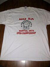 Mu Sa Kwan Tang Soo Do Federation lrg T shirt Martial Arts Open beat-up tee