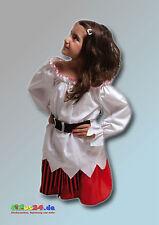 Costume CARAIBICO piratessa carnevale 4 - 10 anni