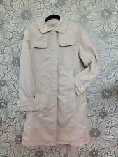 $300+Premier KOREAN Fashion Designer~ON&ON Ivory TRENCH COAT Belted Car Jacket S