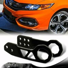 "JDM Black Front+Rear 2"" Anodized Billet Aluminum Racing Tow Hook Kit Universal"