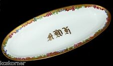 Royal Austria Antique O&EG Hand Painted Floral Celery Dish Tray Signed and Dated