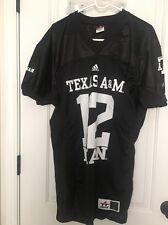 Alleson  Mens Texas A&M Aggies #12 Man Football Jersey Black Clothes Sz L