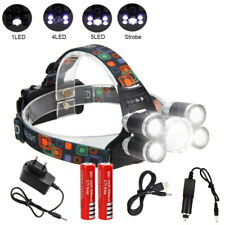 Tactical 50000LM 5X XML T6 LED Cabeza Linterna Faro Headlight Headlamp  USB