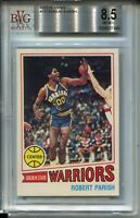 1977 Topps Basketball #111 Robert Parish Rookie Card RC Graded BGS Nm Mint+ 8.5