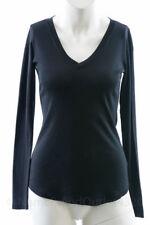 Michael Stars Maternity black OSFA cross over vneck L/S tshirt top NEW $63