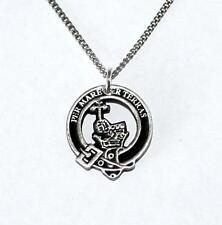 Scottish Clan Macdonald Crest and Motto Necklace, English Pewter, Gift Boxed