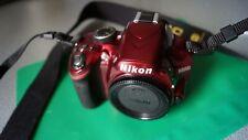 Nikon D d3200 24.2 MP ROSSO + obiettivo 18-105 G ED VR