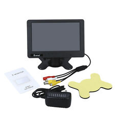 "Small 7"" inch Color Camara Car TV Vídeo LCD Monitor BNC AV CVBS In With Speaker"