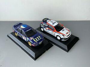 RALLY 1/43 IXO COLIN MCRAE FORD FOCUS RS WRC PRODRIVE 555 SUBARU IMPREZA WRC ERC
