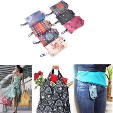 Grocery Storage Handbag Foldable Key Chain Tote Pouch Reusable Shopping Bag 1pc