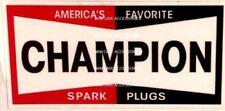 CHAMPION Spark Plug Vinyl Decal Sticker Ford GM Mopar 4206