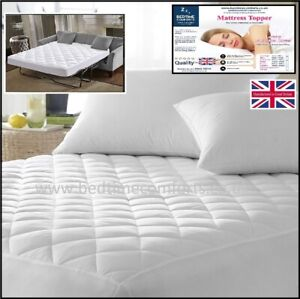 """SOFA BED / PULL OUT  """"QUILTED""""  Fitted Mattress TOPPER  VARIOUS LENGTHS & DEPTHS"""