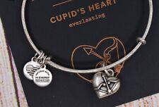 Alex and Ani Cupid's Heart II Charm Bangle Silver Bracelet W/Card