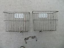 Vintage Bicycle Rear Wire Double Side Saddle Rack Basket
