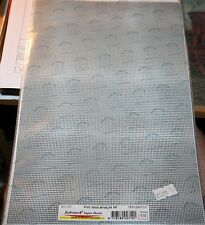 MAQUETT 611-01 PVC GRID STRAIGHT  SHEETS (2) 185mm x 320mm x 0.32mm