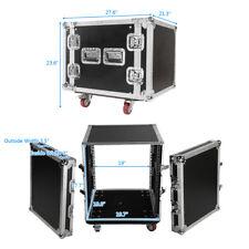 """19"""" Space Rack Case Two Door 10U DJ Equipment Cabinet for Audio Equipment"""