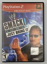 WWE SmackDown Just Bring It Greatest Hits (Sony PlayStation 2, 2002) Tested CIB
