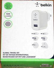 Belkin Global Travel Kit - 6 tips: UK/Europe, Middle East, SA, NA, CANADA, JAPAN