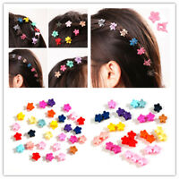 30 PCS MINI Colorful Kids Girl Claw Hair Clips Flower Hairpins Hair Accessory