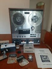 TEAC A-6010 REEL TO REEL TAPE DECK W MANUAL, microphones and accessories