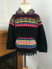 Hanna Andersson 100% Cotton Multicolor Sweater W/Hood Long Sleeve ~ Size 5 (110)