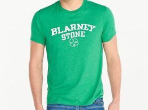 St Patricks Day Shirt Dublin Green Mens Medium J Crew Blarney Stone Graphic Tee