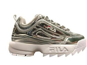 Shoes Fila Urban Disruptor Low Unisex Man Woman Sneakers Silver Vintage 90's Her