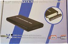 """USB 2.0 + eSATA vers SATA Ordinateur Portable HDD 2,5 """"disque dur storeage boîtier 804"""
