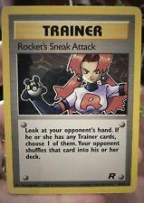 OLD Original Vintage Pokemon Cards Trainer Rare Rockets Sneak Attack 72/82 NM/M