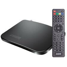 Laser Set Top Box Android AV HDTV/Recorder USB w/ 4K Media Player/Remote Black