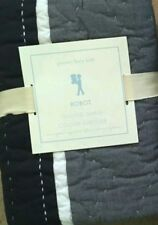 NEW Pottery Barn Kids BLUE Euro SHAM robot