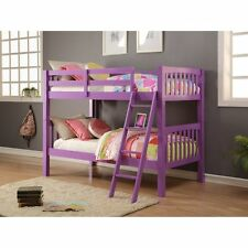 Donco Grapevine Twin over Twin Bunk Bed - Grape, Grape, Twin Over Twin