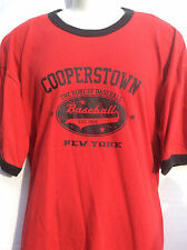 Cooperstown NY New York THE HOME OF BASEBALL est. 1839 red t shirt sz 2XL XXL