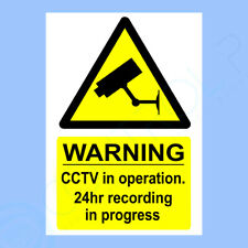 CCTV Sign, Sticker - All Sizes & Materials - Security, Warning, Safety, Camera